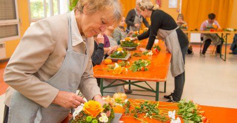 Atelier art floral maison des séniors