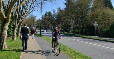 cycliste et piétons