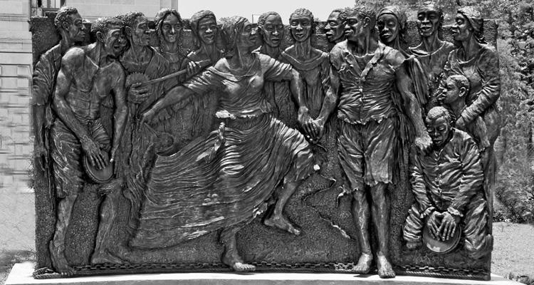 Sculpture sur l'esclavage