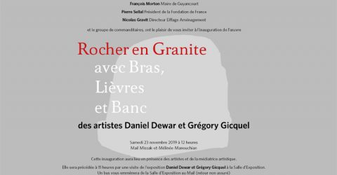 Inauguration rocher en granite