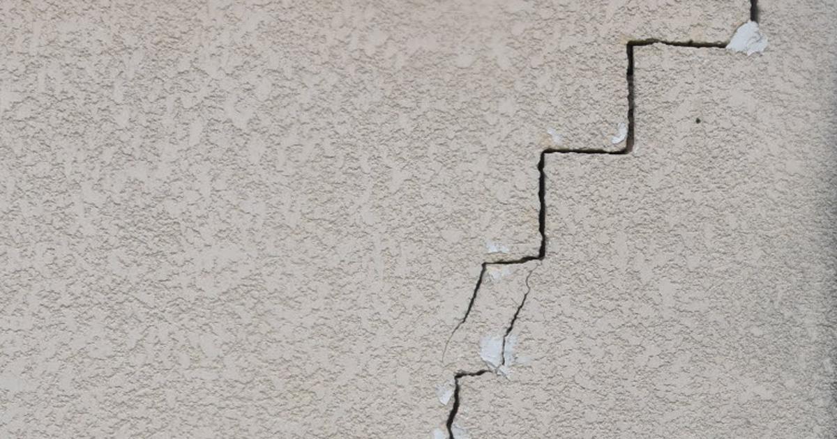fissures dans un mur