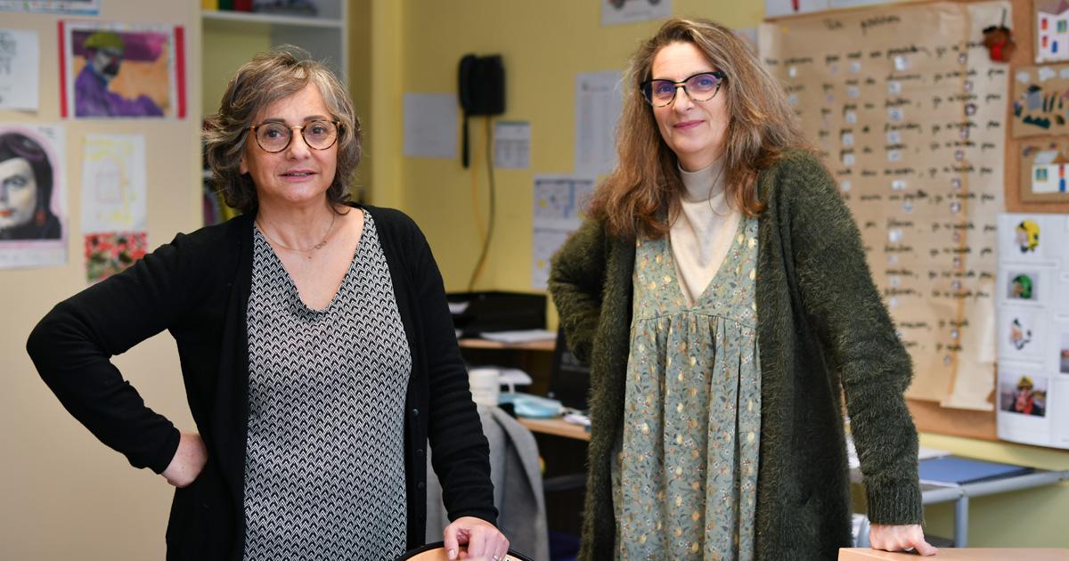 Huguette Raspaut-Grondin et Anne-Laure Guyot IME ALPHEE